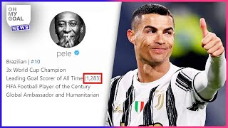 Pelé's childish reaction when Cristiano Ronaldo beat his goal record | Oh My Goal