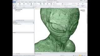 Видеоурок CADFEM VL1511 - Создание твердотельной геометрии из STL в ANSYS SpaceClaim