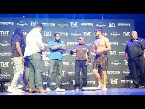 (Live) Mayweather Promotions weigh ins at Sam's Town casino