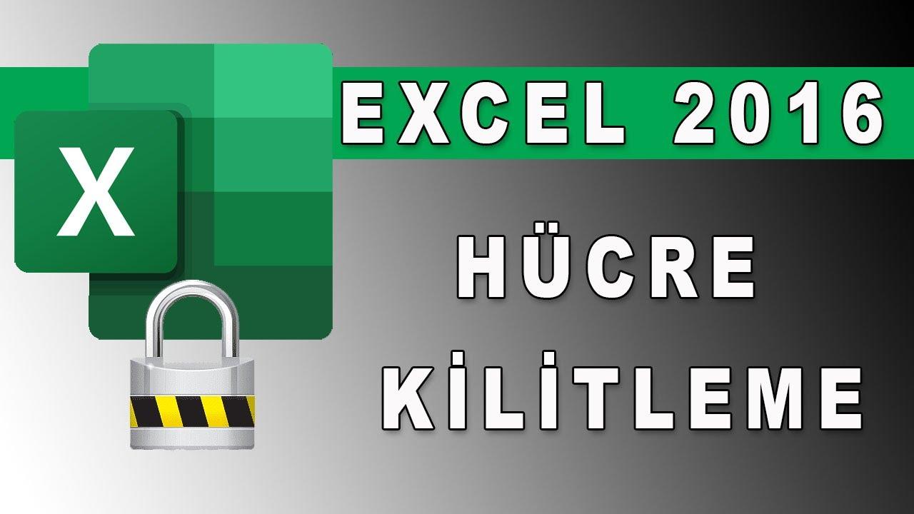 Excelde hücre kilitleme, Excelde sayfa koruma, excel dersleri