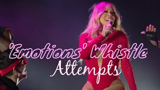 """Mariah carey attempting her iconic c7 whistle note in 1991 #1 hit """"emotions"""". make sure to like, comment and subscribe!!"""