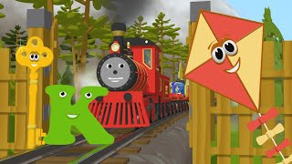 Learn about the Letter K - The Alphabet Adventure With Alice And Shawn The Train