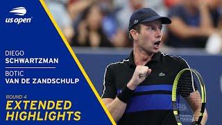 Diego Schwartzman vs Botic Van De Zandschulp Extended Highlights