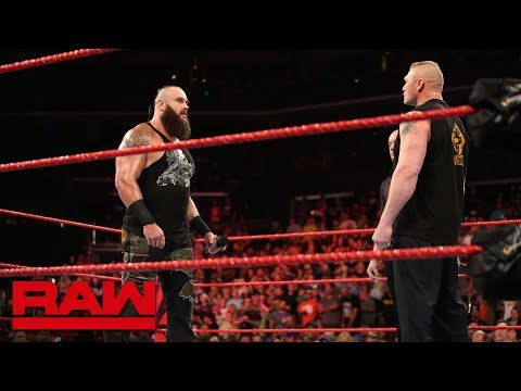 Braun Strowman and Brock Lesnar throw down before WWE Crown Jewel: Raw, Oct. 29, 2018