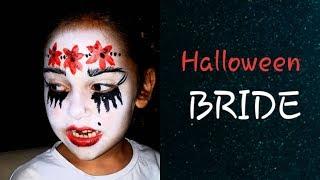 Halloween Crying Bride face paint/ Halloween face paint / Halloween face paint for kids 👰