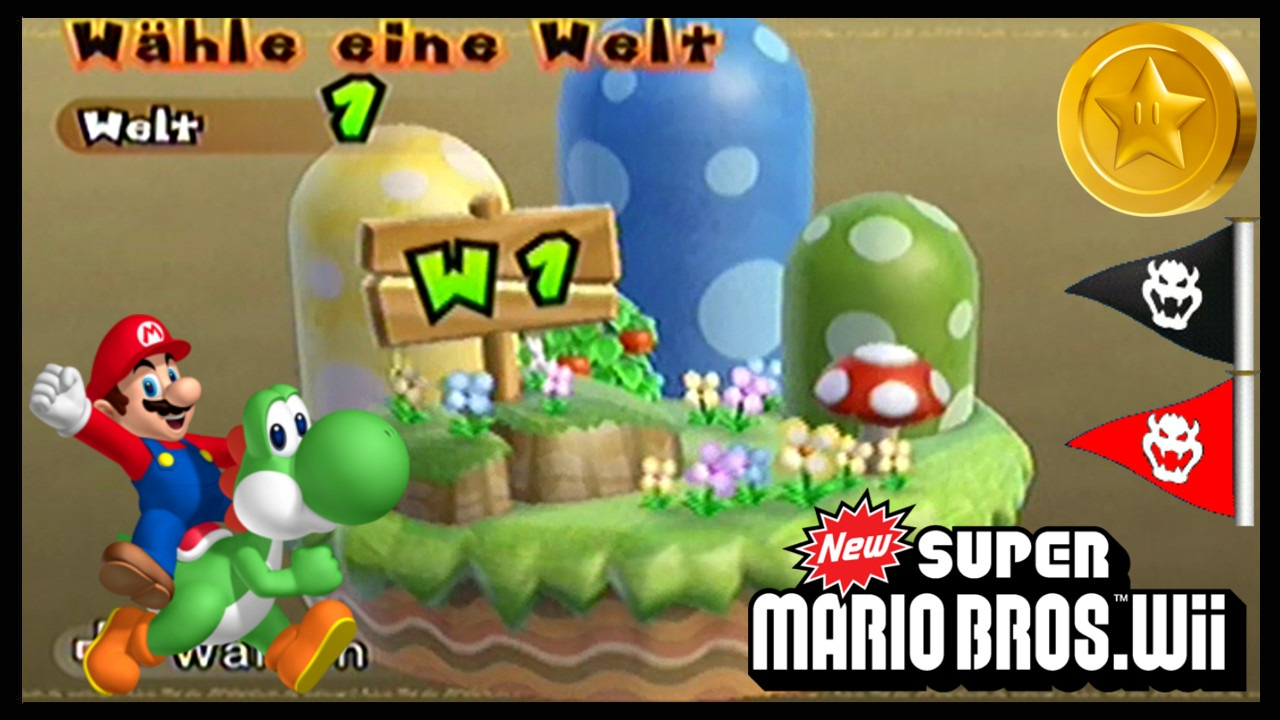 New Super Mario Bros Wii 1 Welt 1 Sternenmünzen Geheimwege Youtube