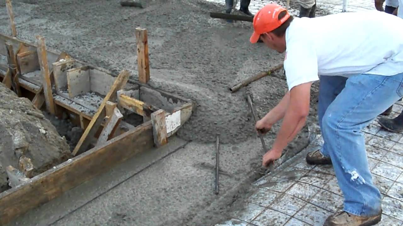 how to put in concrete slab