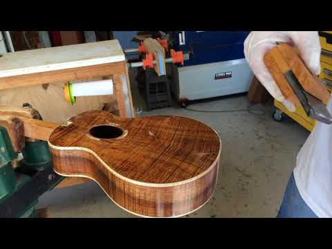 Epoxy Pore Fill on Concert Ukulele