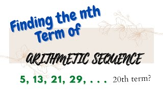 Finding the nth Term of Arithmetic Sequence