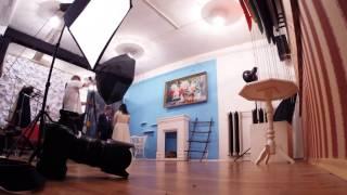 Backstage свадебной фотосессии в студии Антона и Даши