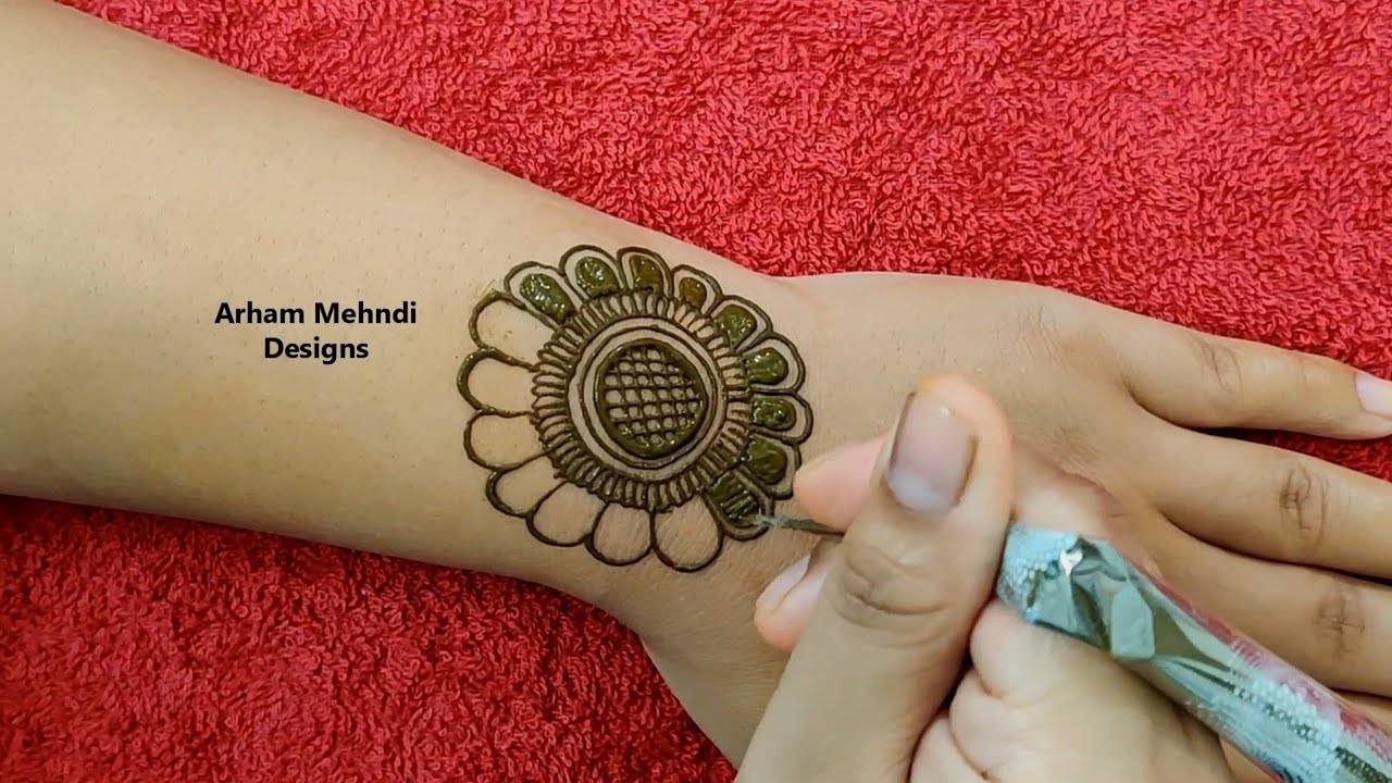 Easy Simple Jewellry Mehndi Design for Hand || Heena Design for Beginners || Arham Mehndi Designs