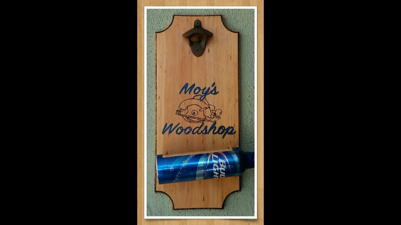 bottle opener plaque youtube. Black Bedroom Furniture Sets. Home Design Ideas