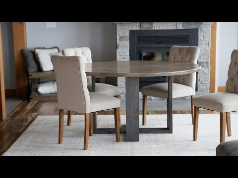 round-modern-dining-table-build-#anawhite-#woodworking-#diningroom