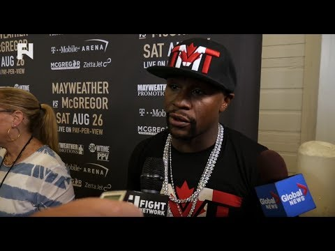 Floyd Mayweather Toronto Media Scrum -