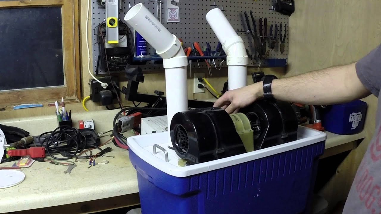 Diy Air Conditioner No Electricity Diy 12 Volt Air Conditioner Youtube
