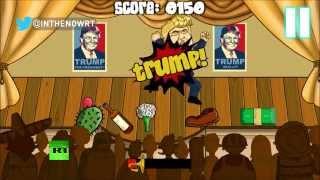 Мексиканская игра: в мультяшного Дональда Трампа летят мячи, кактусы и бутылки текилы
