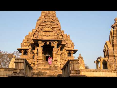 India .   Famous temples  Khajuraho .  Part 2 . ( Erotic Sculptures )
