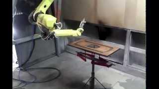 Покраска мебельного фасада робот FANUC(Роботизированная покраска мебельных фасадов. Робот FANUC. Реализация проекта осуществлена компанией СИГМА..., 2015-09-16T12:13:42.000Z)