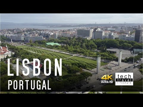 [4K] Lisbon city from the air - Portugal