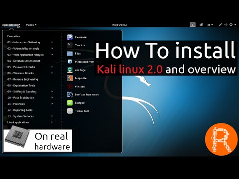 How To install Kali linux 2.0 and overview [On real hardware]