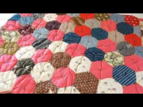 Hexagon Quilt Cover Beginning Machine Quilting Youtube