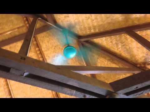 "(Performance video) 36"" 3D brand ""Aero-Master"" industrial ceiling fan"