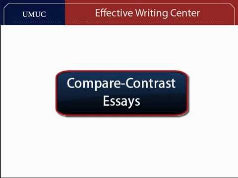 comparison and contrast outline format