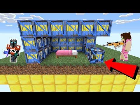 Minecraft: FORTNITE LUCKY BLOCK BEDWARS! - Modded Mini-Game