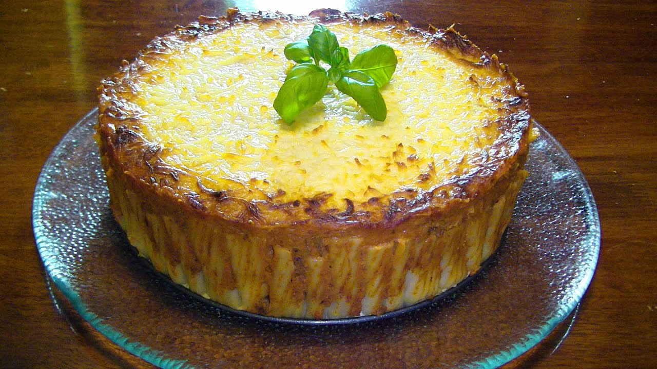 PASTEL DE PASTA RIGATONI / PIE / CAKE / facilisimo y modificable ...