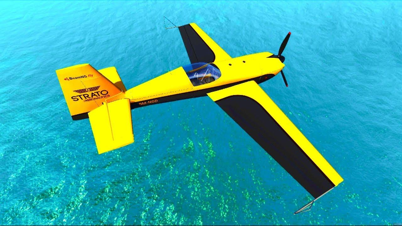 Тестируем #самолеты и машины в игре BeamNG.Drive - Машинки ...