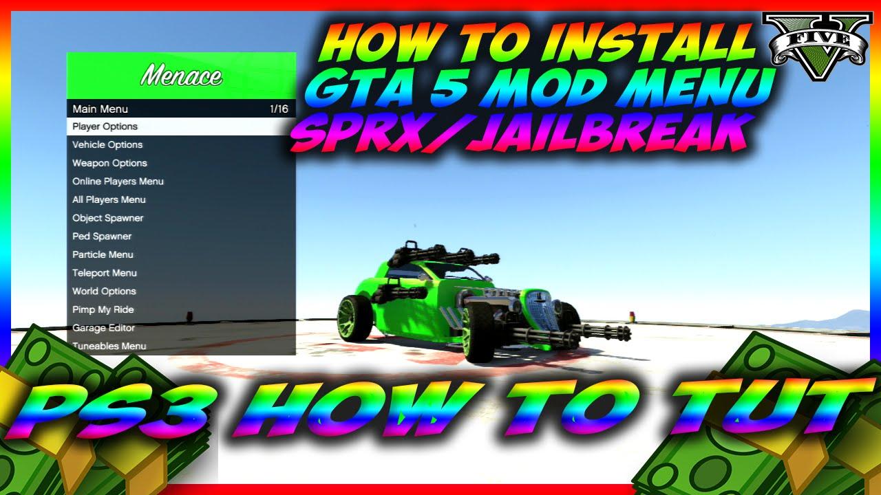 GTA 5 HOW TO INSTALL SPRX MENU'S ON A JAILBROKEN PS3 *(CFW TUTORIAL)* BY  DUTCHWEEDNL88