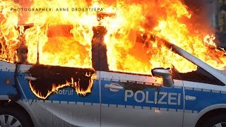 'Blockupy' Protestors Clash With Police at the ECB Tower in Frankfurt