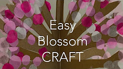 How to make a blossom tree - simple craft activity for kids