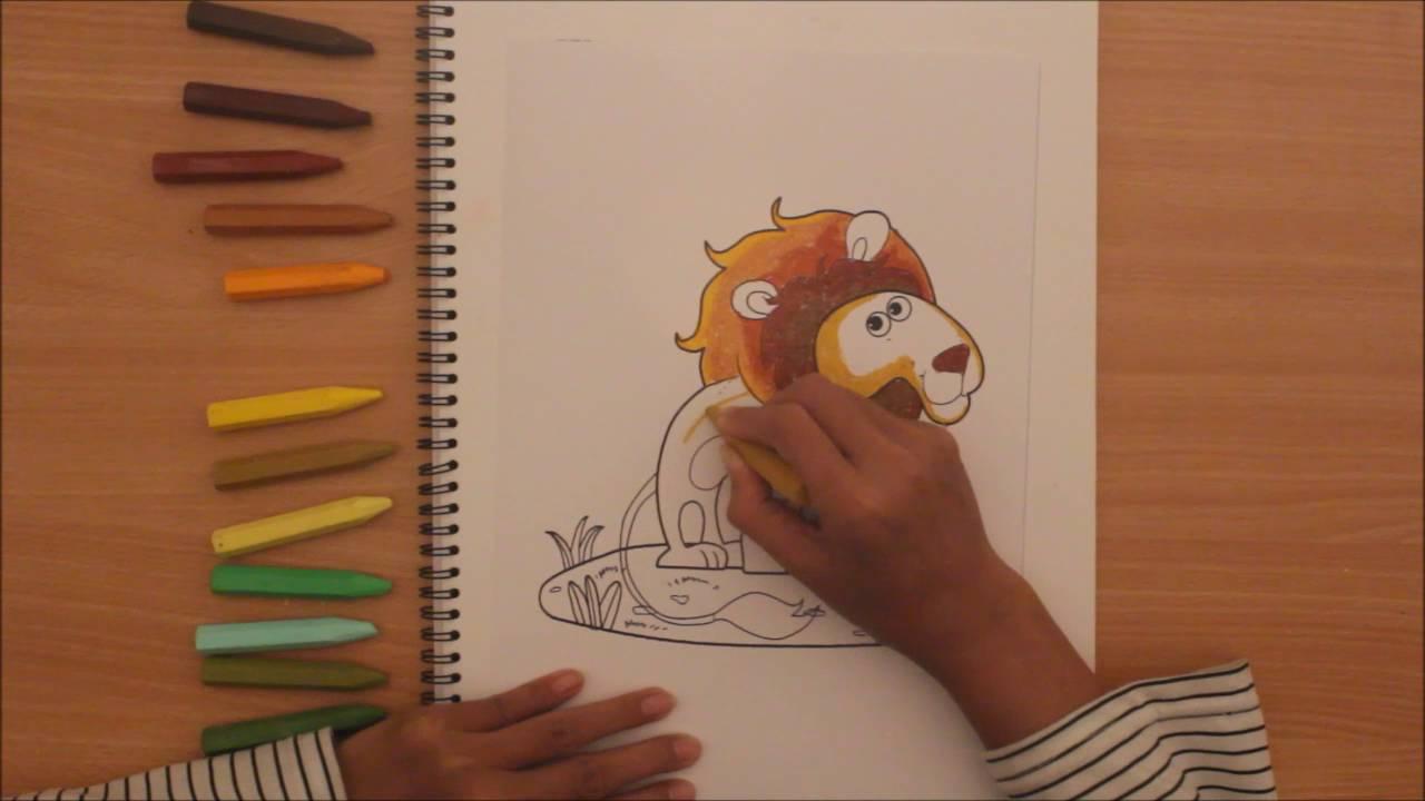 Mewarnai Singa Dengan Krayon Youtube