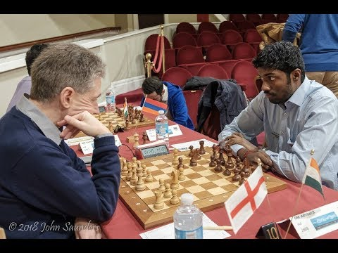 How did Adhiban finish ahead of Anand at Isle of Man international 2018?