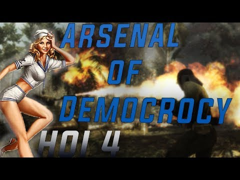HOI 4 Democratic USA Arsenal of Democracy 10 Player Multiplayer Gameplay