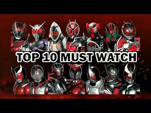 Top 10 Must Watch Kamen Rider Series | Heisei only |