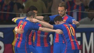 Pro evolution soccer 2017 - fc barcelona vs real madrid gameplay (1080p60fps)