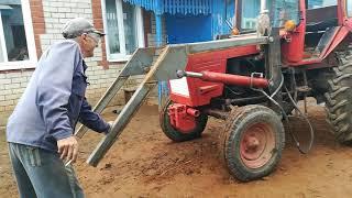 Изготовление самодельного КУНа на трактор т 25 часть 9