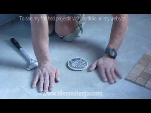 "How to install shower pan and float floor mud bed.  Part "" 3 "" Ready for tile install"