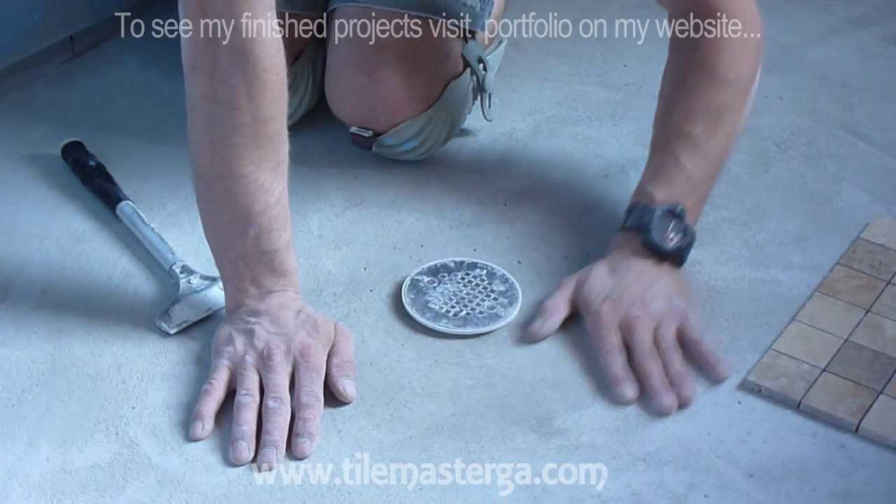 How to install shower pan and float floor mud bed part 3 how to install shower pan and float floor mud bed part 3 ready for tile install youtube dailygadgetfo Gallery