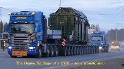 The Heavy haulage of a 200 tons Transformer by Havator