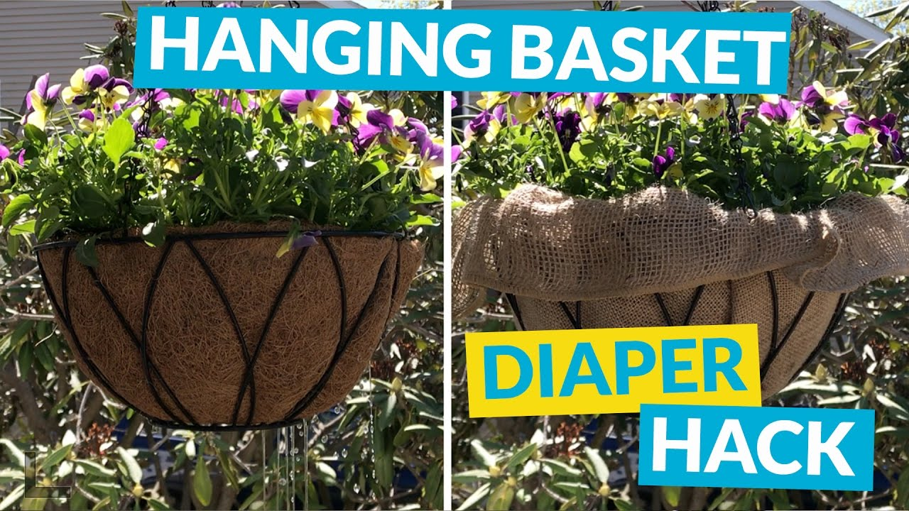 Hanging Basket Diaper Hack - YouTube