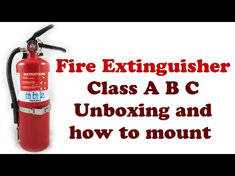 ABC Fire Extinguisher - First Alert Home Safety - Types Extinguishers Classes Class A B C - DIYdoers
