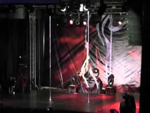 Reverse Cartwheel (Full Moon) Pole trick - Maria Luz Escalante - WPDC