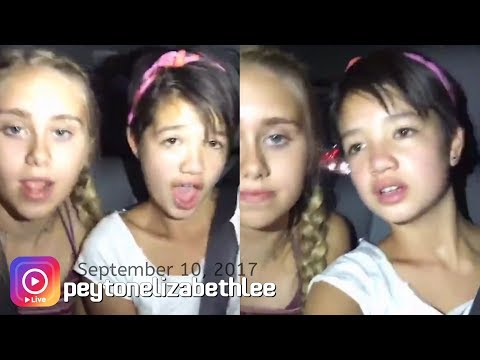 Peyton Elizabeth Lee ~in the car w/ friends~ on Instagram LIVE [9/10/2017]
