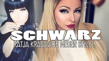 KATJA KRASAVICE mit Schwarzen Haaren & Domina Style | Sie geht total ab !