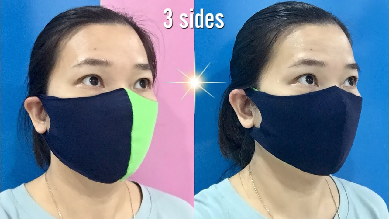 ⭐️ SMART MASK 2 LAYER - 3 SIDES - NO RULER - NO SEWING MACHINE - NO ELASTIC TIE - FROM OLD CLOTHES !
