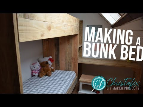 Making a bunk bed yourself | How to make a cheap bunk bed