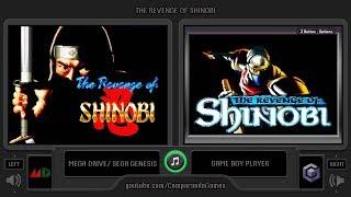 The Revenge of Shinobi (Sega Genesis vs GBA) Side by Side Comparison